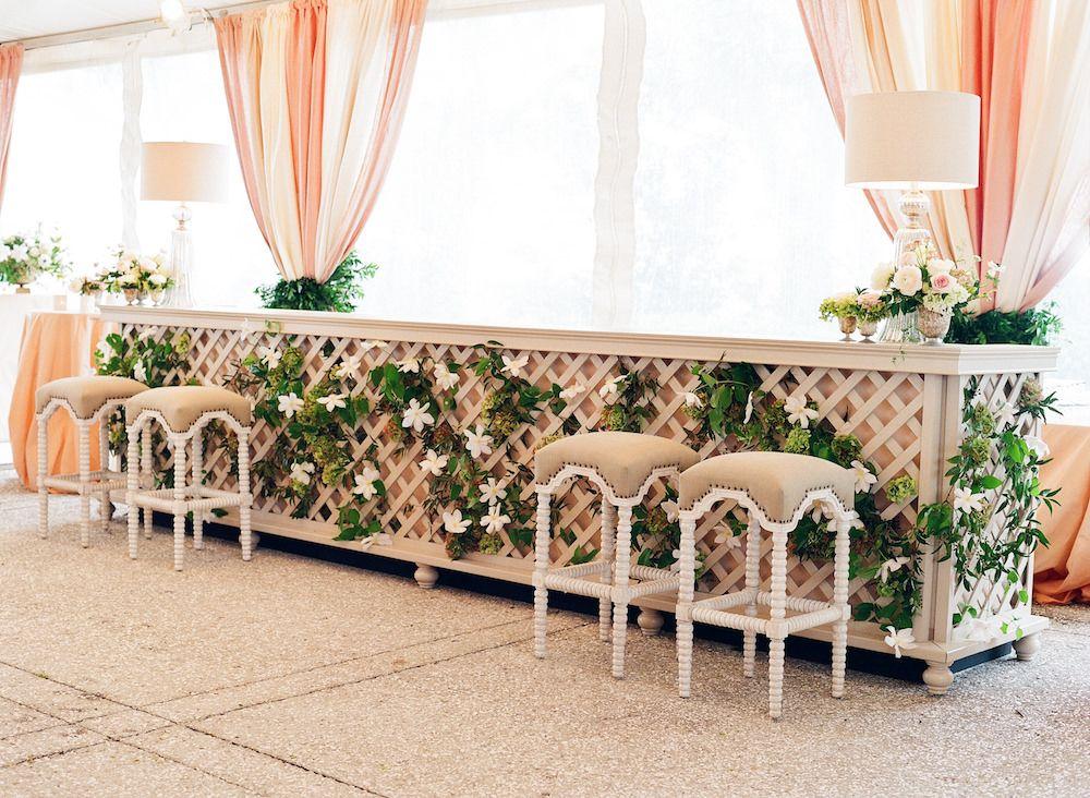 Calder clark designed this custom latticefront bar in