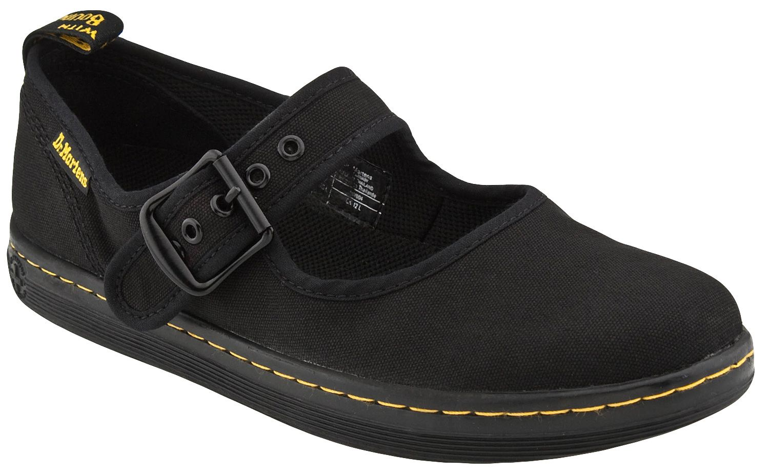 Dr.Martens Winona Canvas Casual Flat Buckle T-Bar Womens Shoes