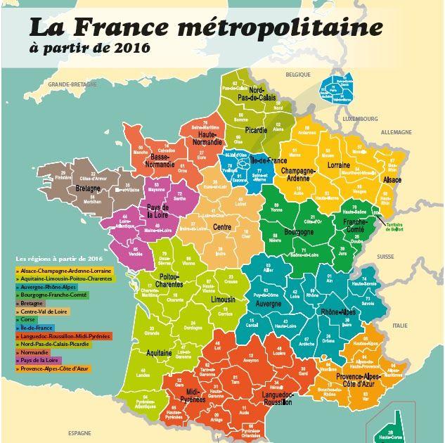 La France Compte 22 Regions 101 Departements Et 36 700 Communes Carte Administrative Des Regions De France Met Carte De France Les Regions De France France