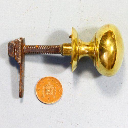 A completely original and genuine antique cast brass cupboard door ...