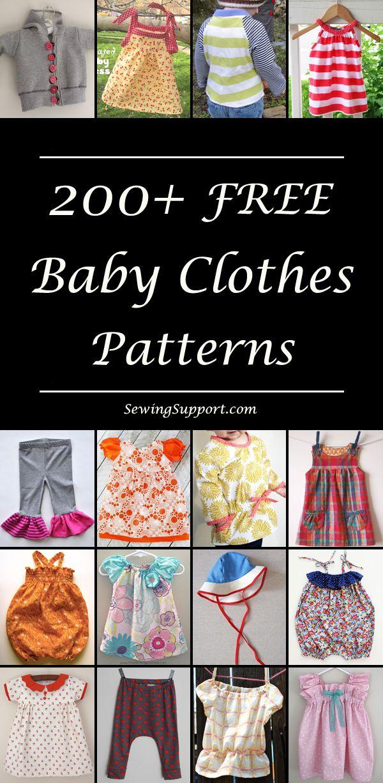 200+ Free Baby Clothes Patterns | Sewing | Pinterest | Nähen für ...
