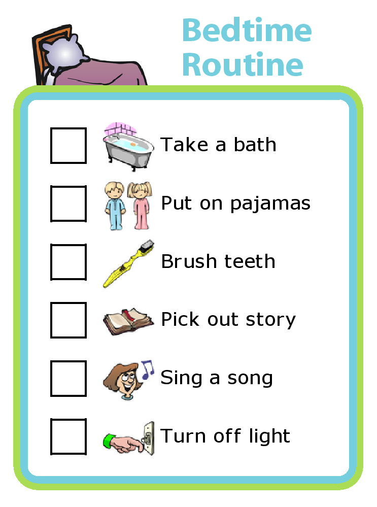 photograph regarding Bedtime Routine Chart Printable called Pin upon 52 Months of Discovering with The Family vacation Clip