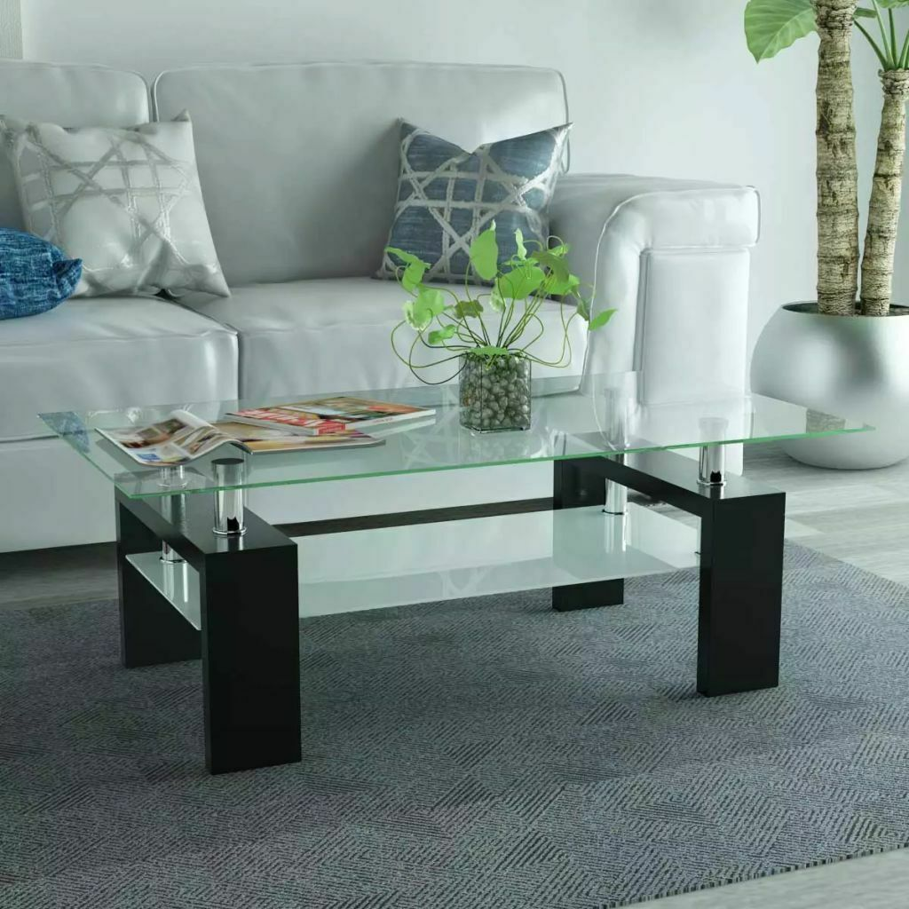 Table Basse Vidaxl Table Basse De Salon Noir 110x60x40 Cm
