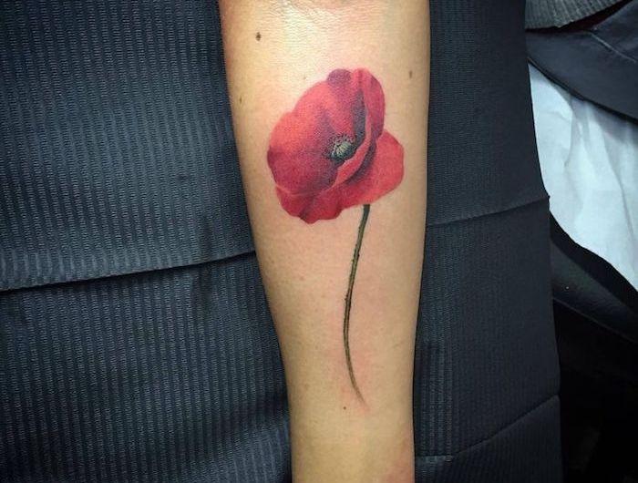 tatouage coquelicot – un champ de 52 modèles en photos   tattoo
