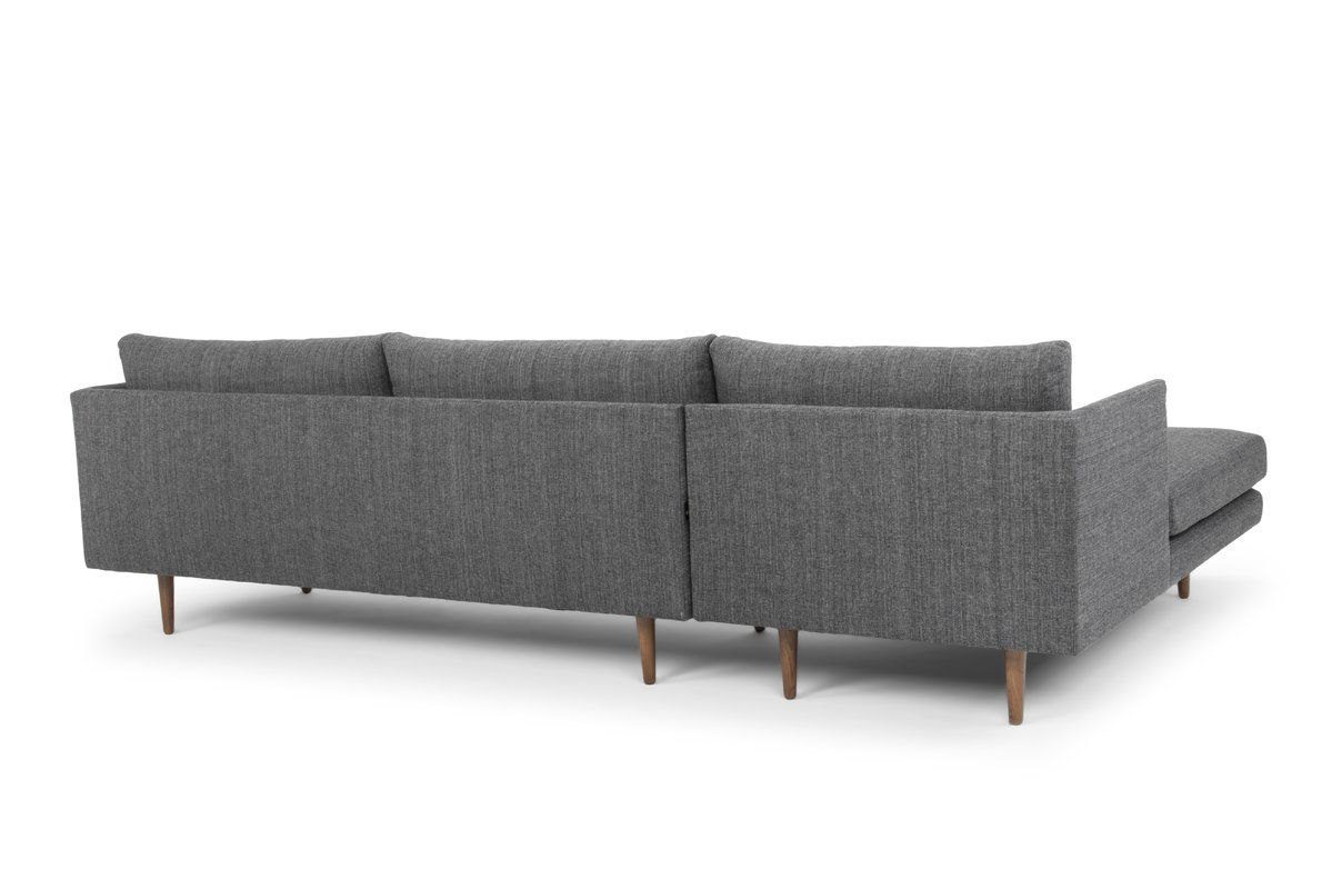 Octavio Sectional Reviews Joss Main Light Grey Upholstery Beautiful Sofas Apartment Living Room