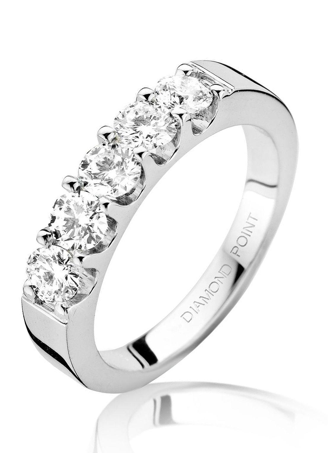 Witgouden alliance ring met diamanten - Diamond Point