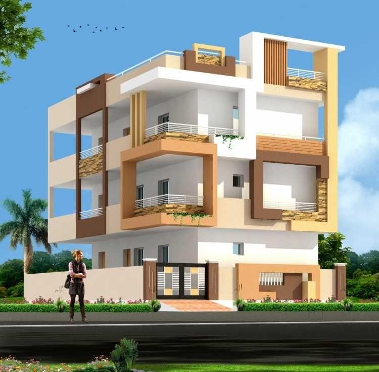 Elevation building house front design modern also rh pinterest