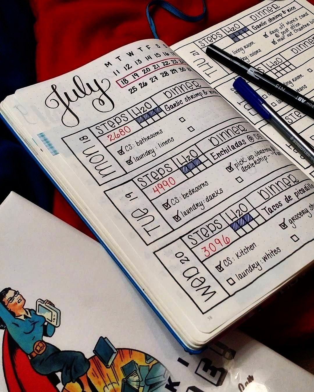 Validate Uplift Empower Validate Mai Thai maithaid BuJo MY Bullet Bullet journal inspiration including calendar section water tracker step tracker meal planner  could be...