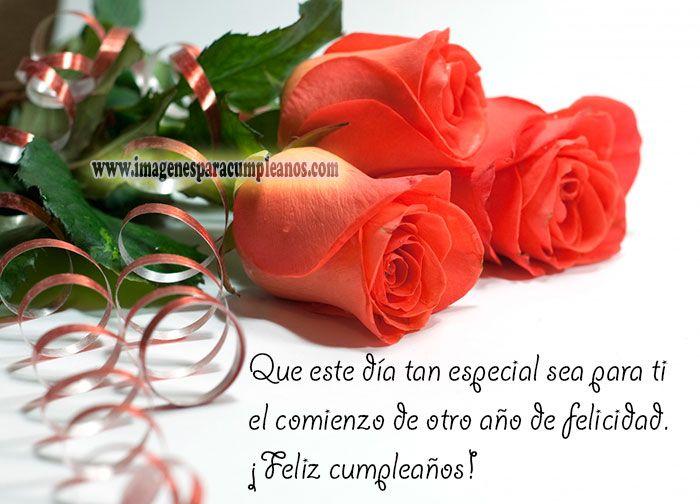 Flores Con Bonitos Mensajes De Cumpleanos Bachi Pinterest