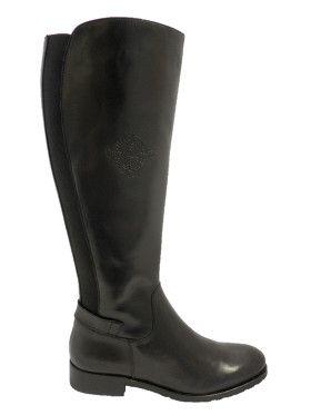 a7409d24fb4 Vitti Love 5817 Black Leather Long Boot