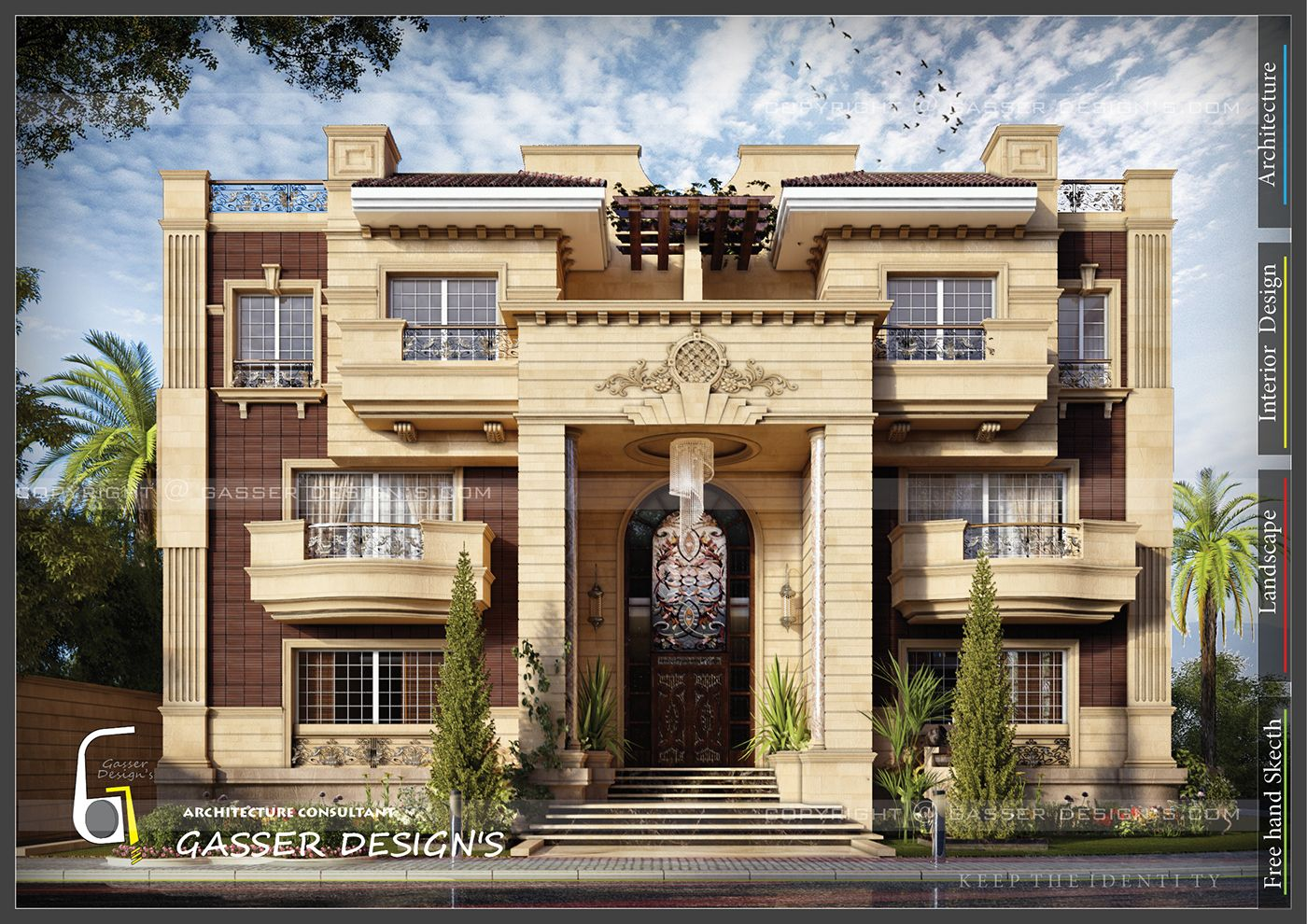 Classic facade modern touch in 2019 fantasy house modern
