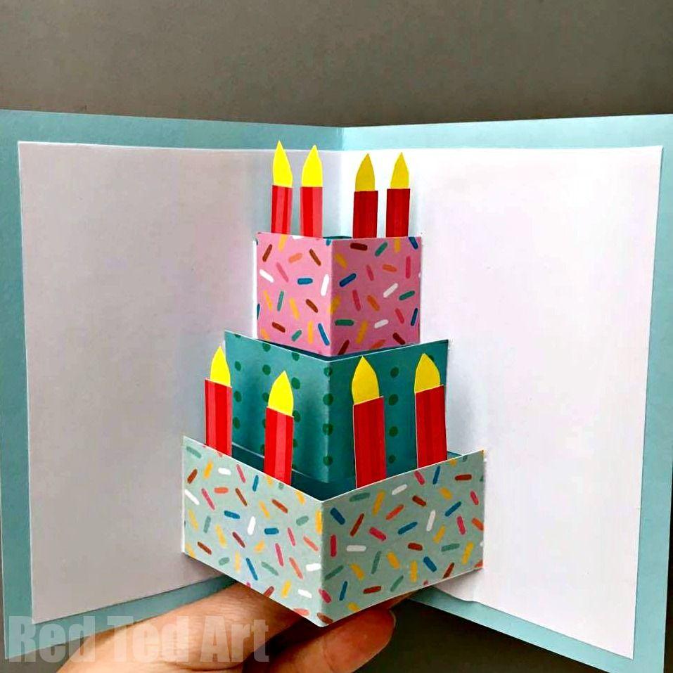 Easy pop up birthday card diy nanus th birthday card ideas