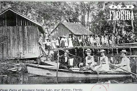 Picnic at the old Kissengen Springs--wonderful historic picture