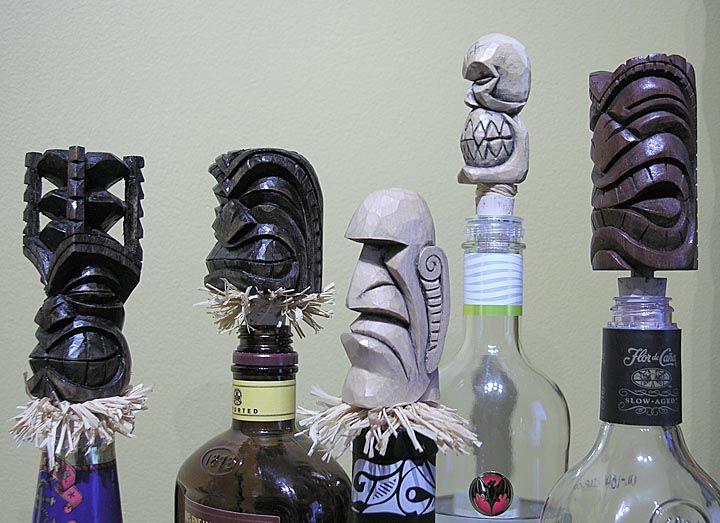 Terror Tiki top custom stainless steel wine bottle stopper