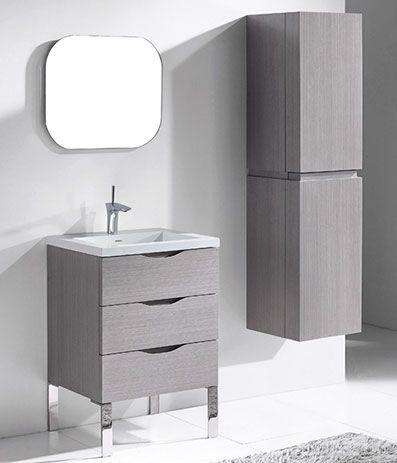 Milano Ash Grey Modern Bathroom Furniture Bathroom Furniture Modern 24 Bathroom Vanity Grey Bathroom Furniture Bathroom modern vanity units milano