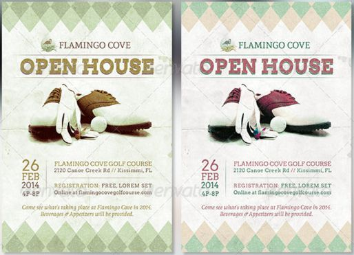 Golf Course Open House Flyer Open House Flyer Ideas Pinterest - flyer outline