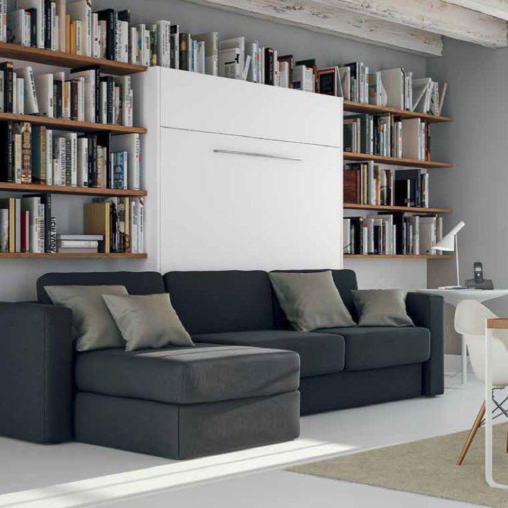 Armoire lit ouverture assist e traccia canap int gr et m ridienne gauche couchage 160 200cm - Canape lit studio ...