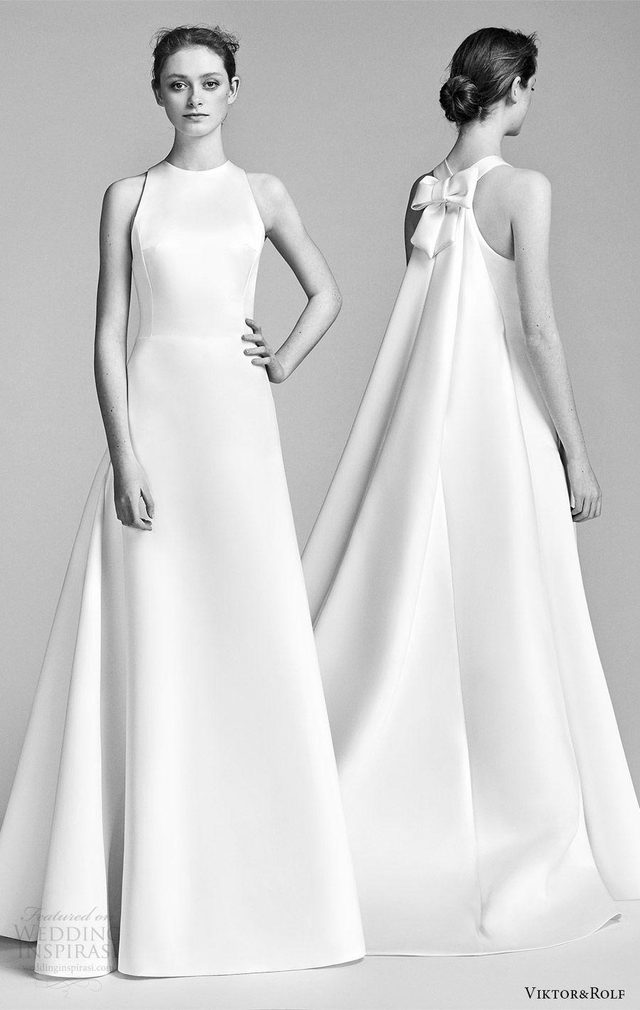 Wedding dress with bow on back  ViktoruRolf Spring  Wedding Dresses  Wedding  Pinterest