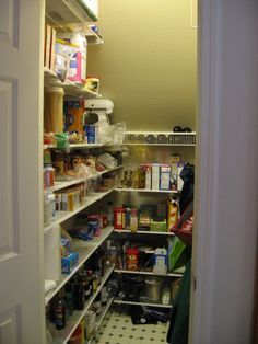 Under stairs pantry. I would like to have shelves to hold baskets or bins,  and canned/dry goods.