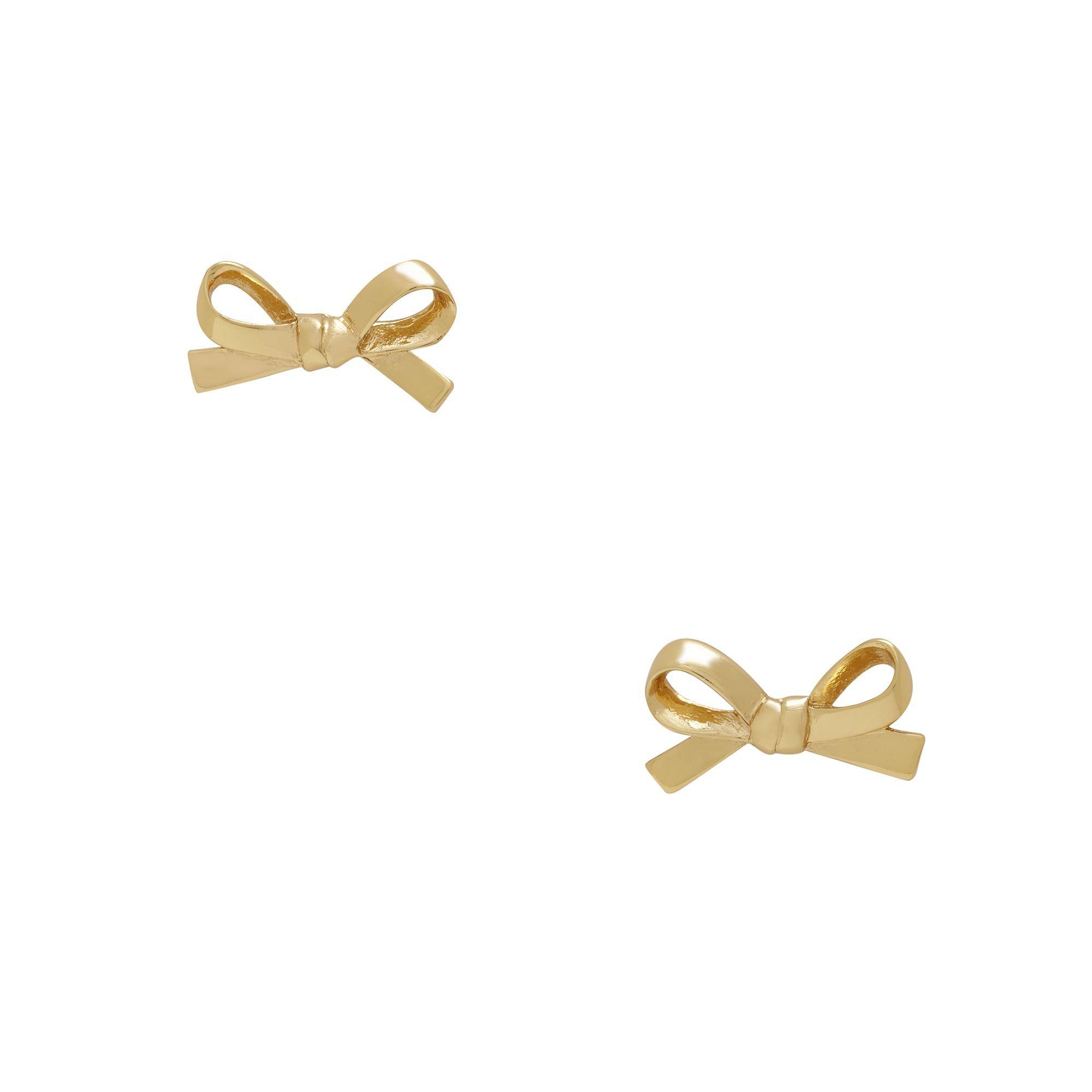 skinnty mini bow earrings / kate spade  Cute!