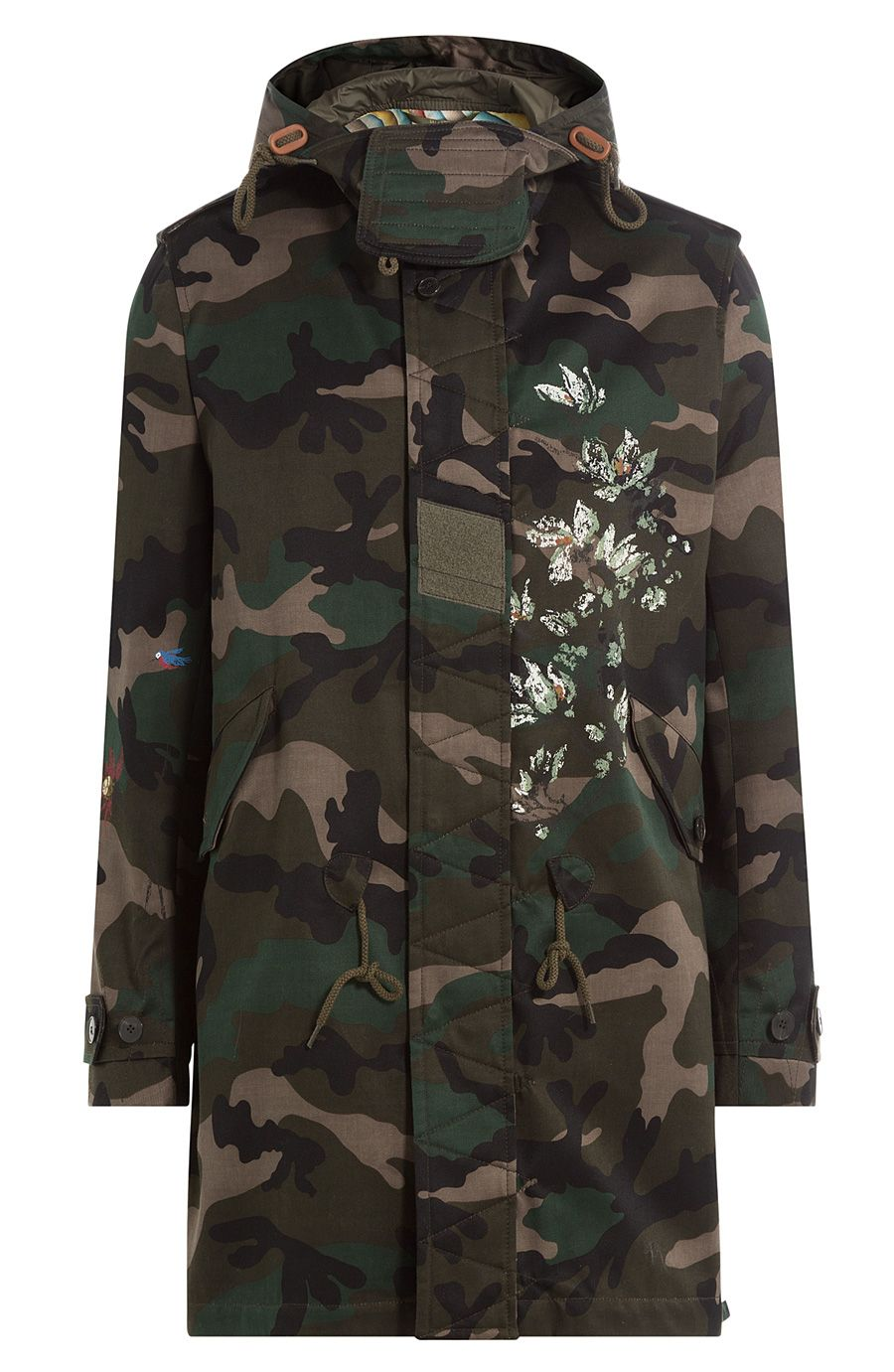 b203c321662c8 VALENTINO Camouflage Printed Cotton Parka. #valentino #cloth #outdoor  jackets