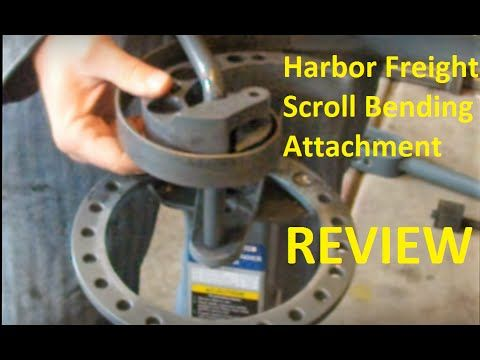 Review of Harbor Freight Scroll Bending Attachment - YouTube