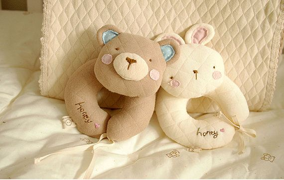 Baby Bear Rabbit Rattle Toy Baby Toys Sewing Pattern Tutorial Sewing ...