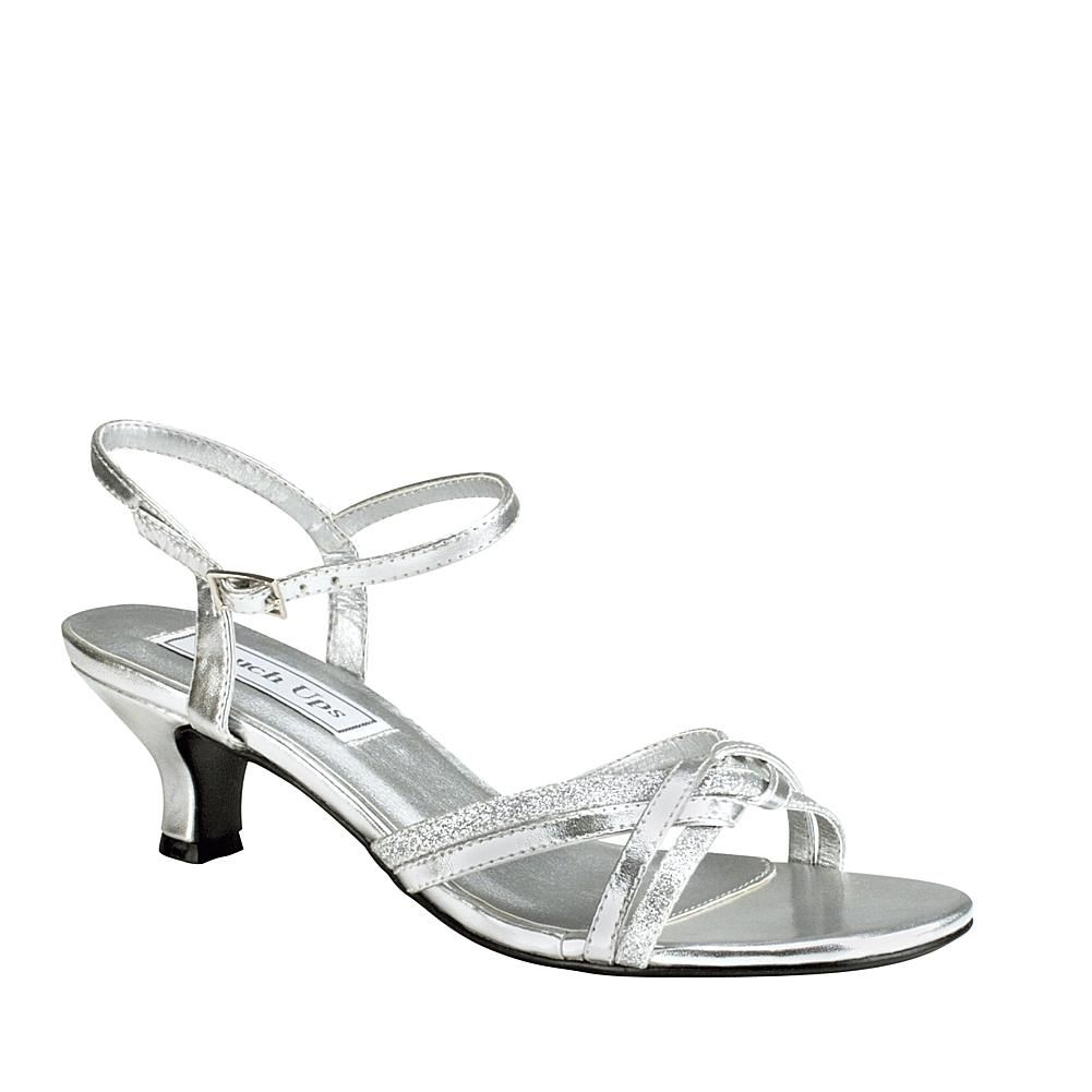Touch Ups Melanie Sandal Wide 9174648 Hsn Silver Wedding Shoes Silver Low Heels Prom Shoes [ 1001 x 1001 Pixel ]