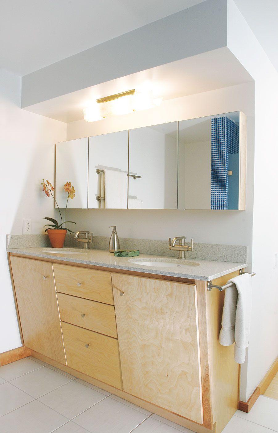 Modern Slant Front Vanity Mid Mod Bathroom Remodel Retro Bathrooms [ 1402 x 902 Pixel ]