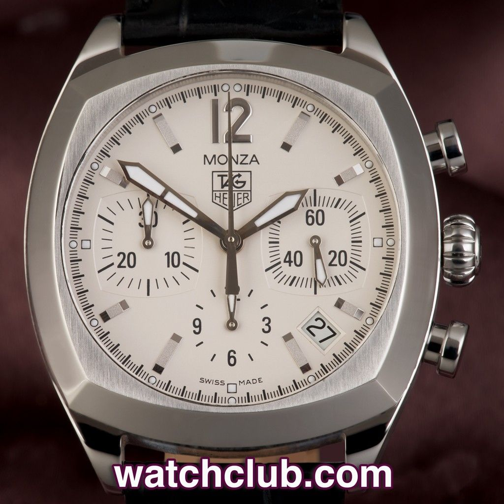 Tag Heuer Monza - Silver Dial Chronograph REF: CR2114-0 A ...