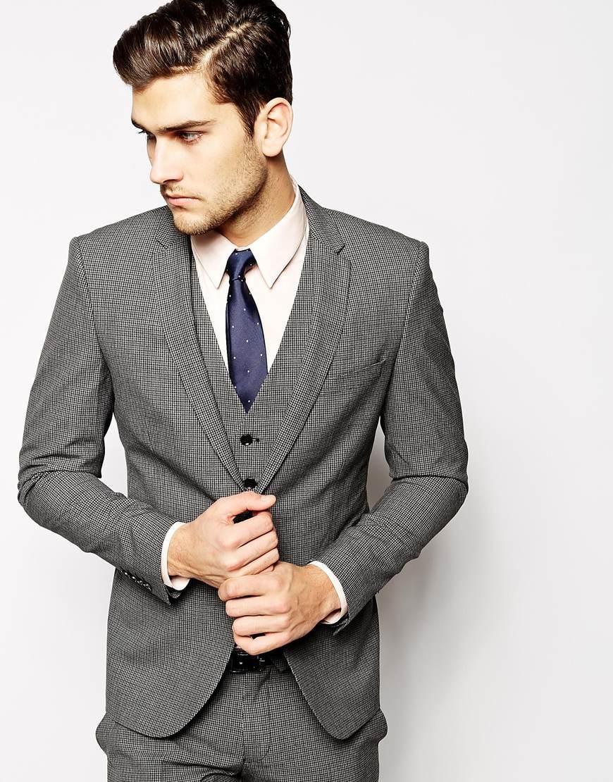 Selected Slim Fit - Blazer Men grey 658jg