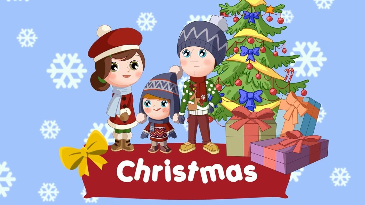 Christmas words for kids (flashcards video) - YouTube | ENGLISH ...