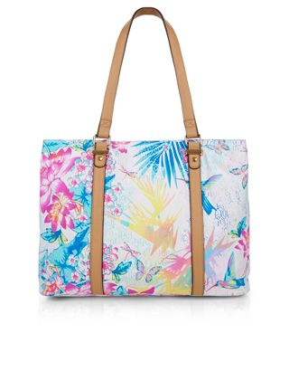 Butterfly Print Beach Tote Bag | Multi | Accessorize | Fashion ...
