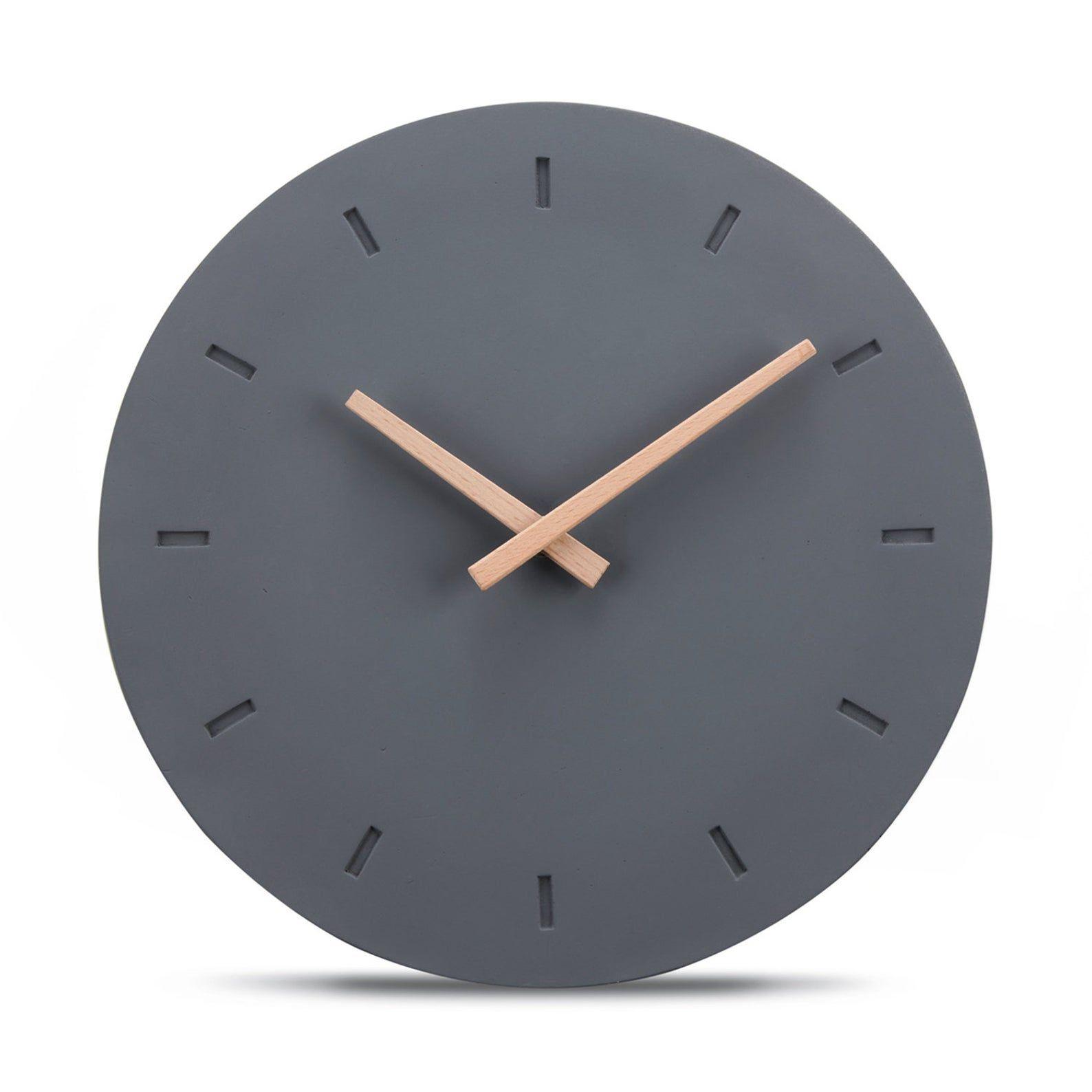 Cander Berlin Mnu 6130 G Concrete Wall Clock Silently Silent Cement Concrete Clock 30 5 Cm Wanduhr Schwarze Wanduhren Uhrideen