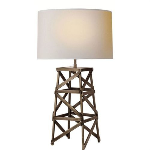 Visual Comfort Tob3149ai Np Thomas O Brien Derrick Tower 28 1 4 1 Light Table Lamp In Aged Iron With Natural Paper Shade Table Lamp Lamp Small Table Lamp