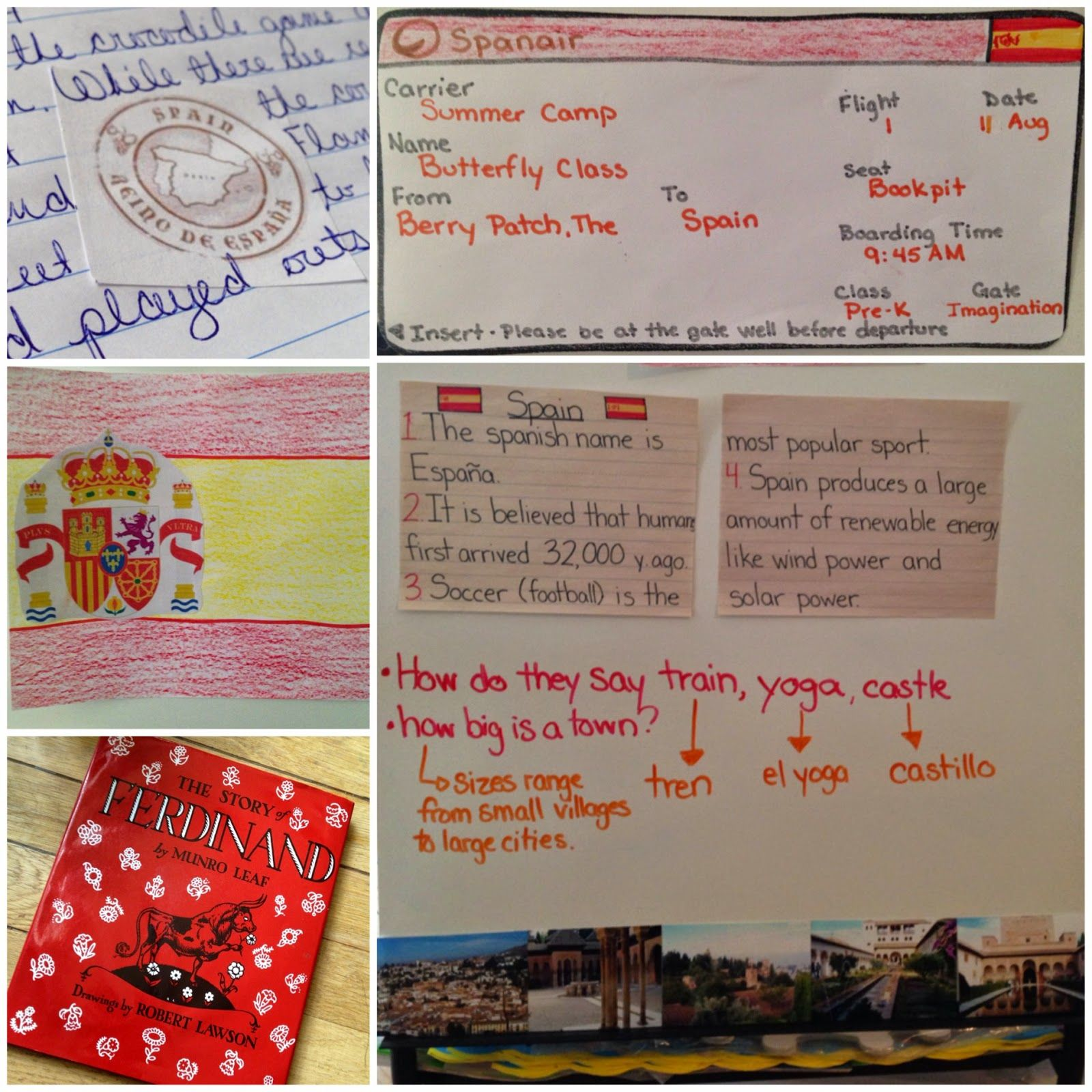 Theme And Activities About Spain For Preschool And Pre K