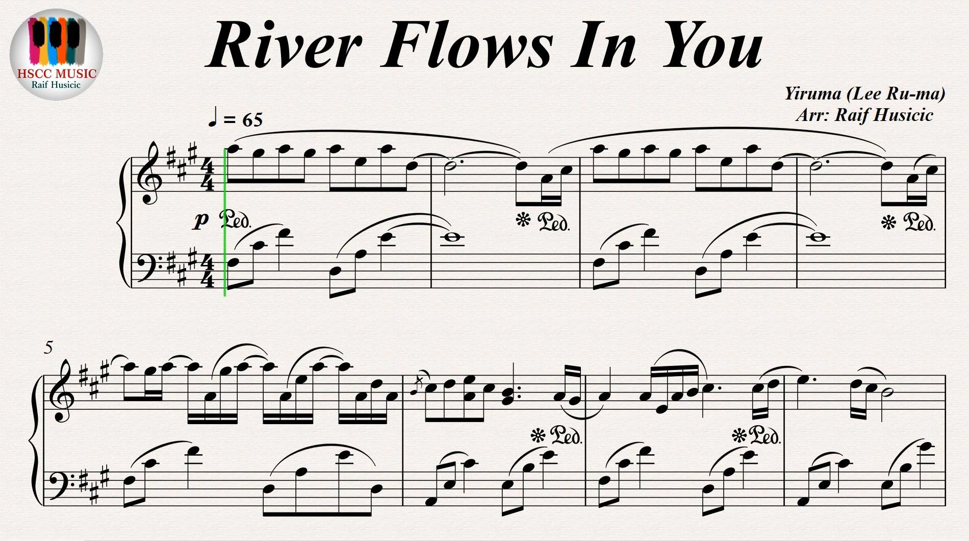 how to play the river flows in you yiruma