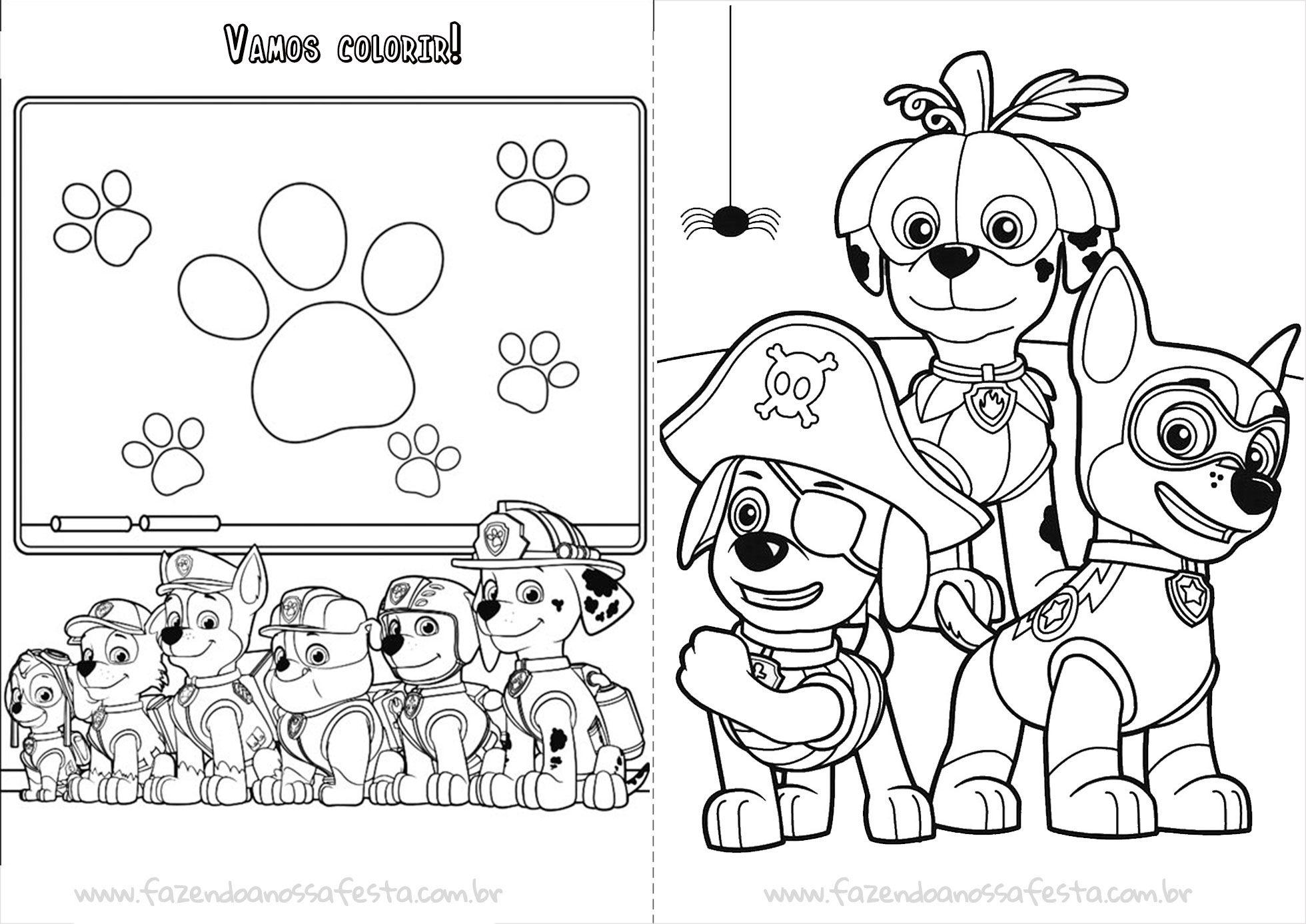 Livrinho Para Colorir Do Patrulha Canina Pagina 6 Com Imagens
