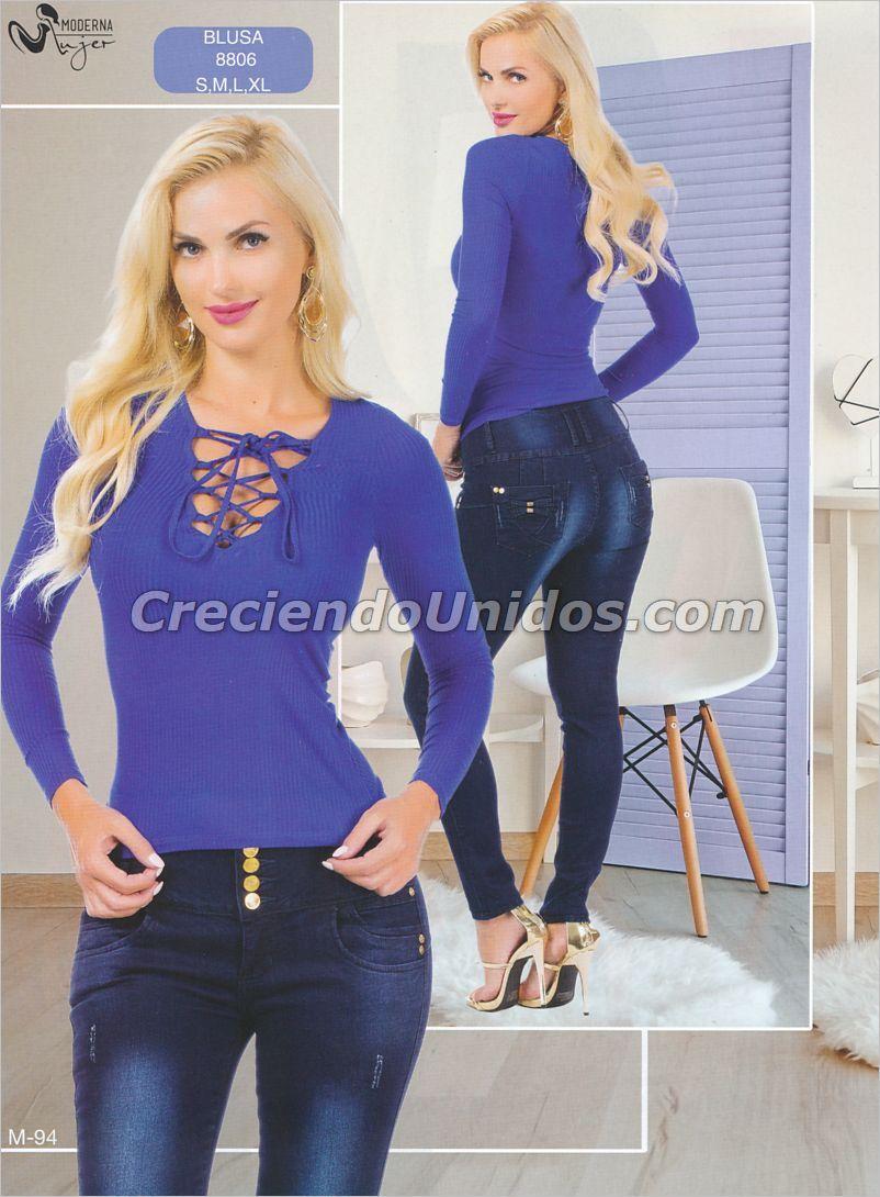 Mujer Moderna #mujermoderna #colombianfashion blusas de mezclilla ...