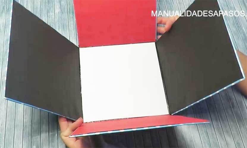 Caja Explosiva Gigante Medidas Y Paso A Paso Cajas Caja Con Fotos Regalo Para Novia Manualidades
