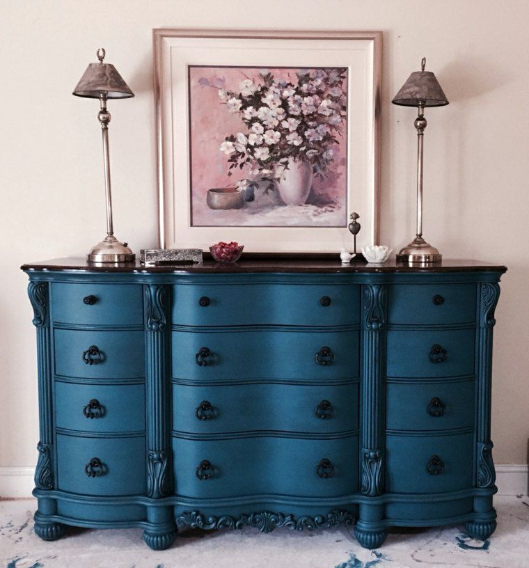 Decoration Bleu Canard Quelques Idees D Objets Decoratifs Furniture Makeover Painted Furniture Redo Furniture