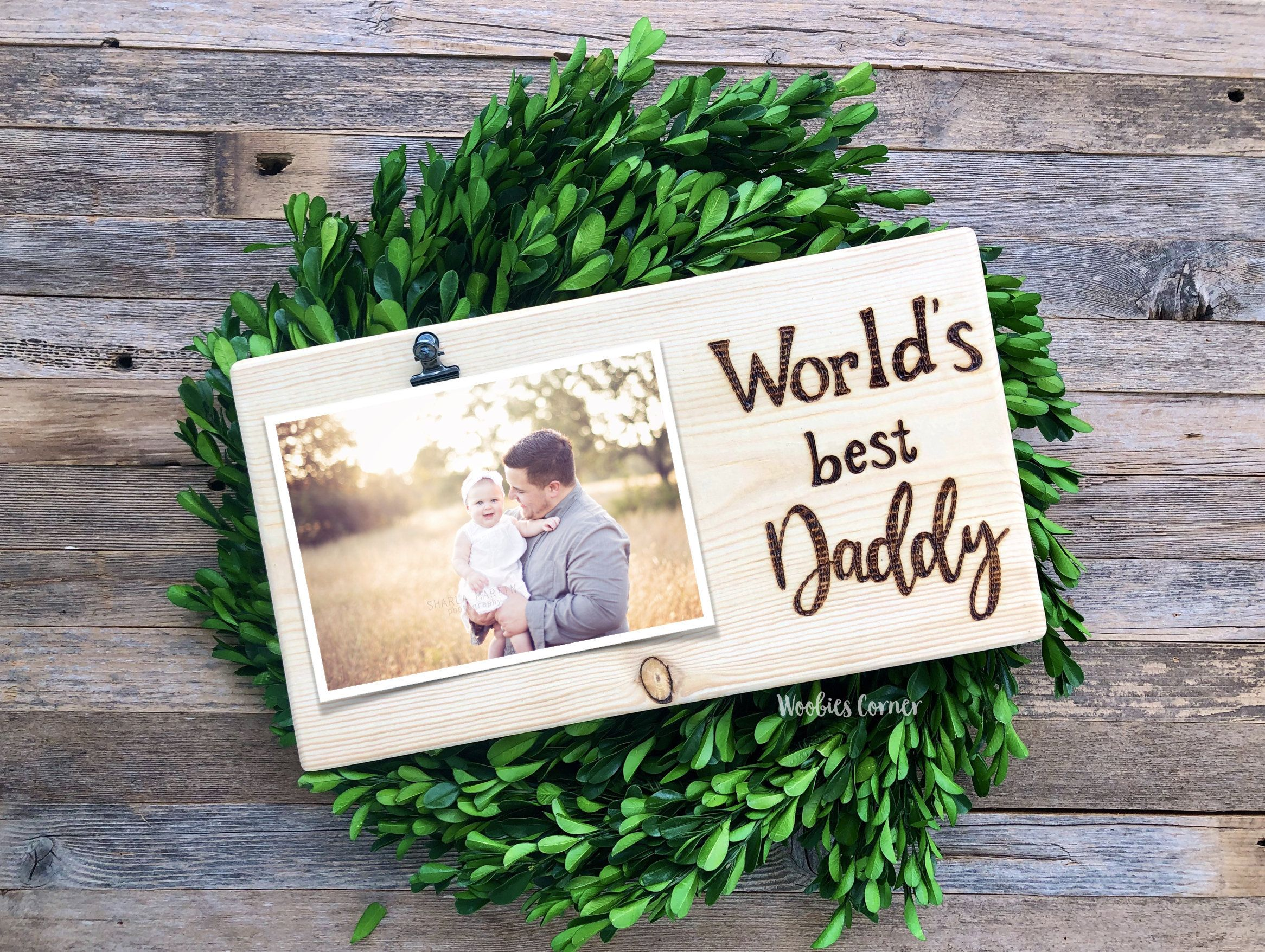 Daddy picture frame dad photo frame fathers day gift gift