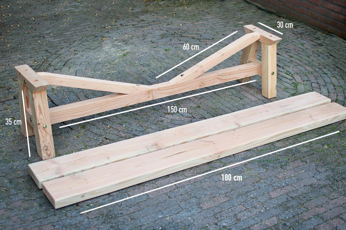 Schommelstoel zelf maken 23 tuintafel for Zelf meubels maken van hout