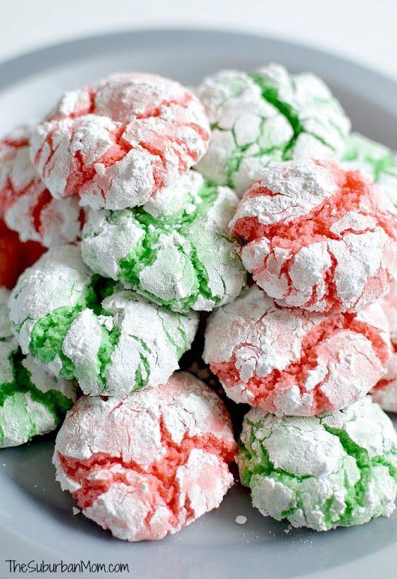 Christmas Crinkle Cookies Recipe Cake mix cookies, Cake mixes