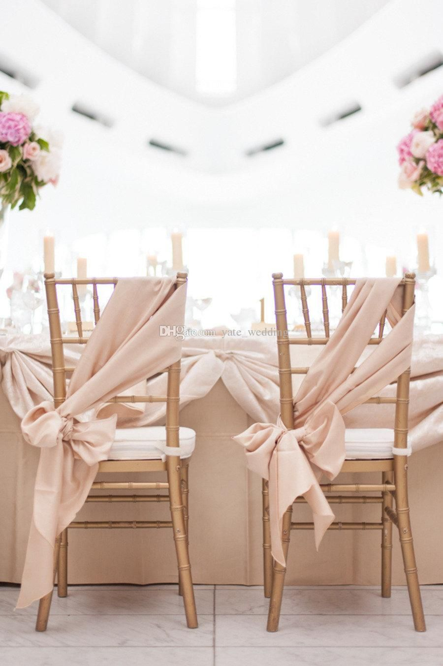 free shipping, $38.78/piece:buy wholesale champagne chair sashes