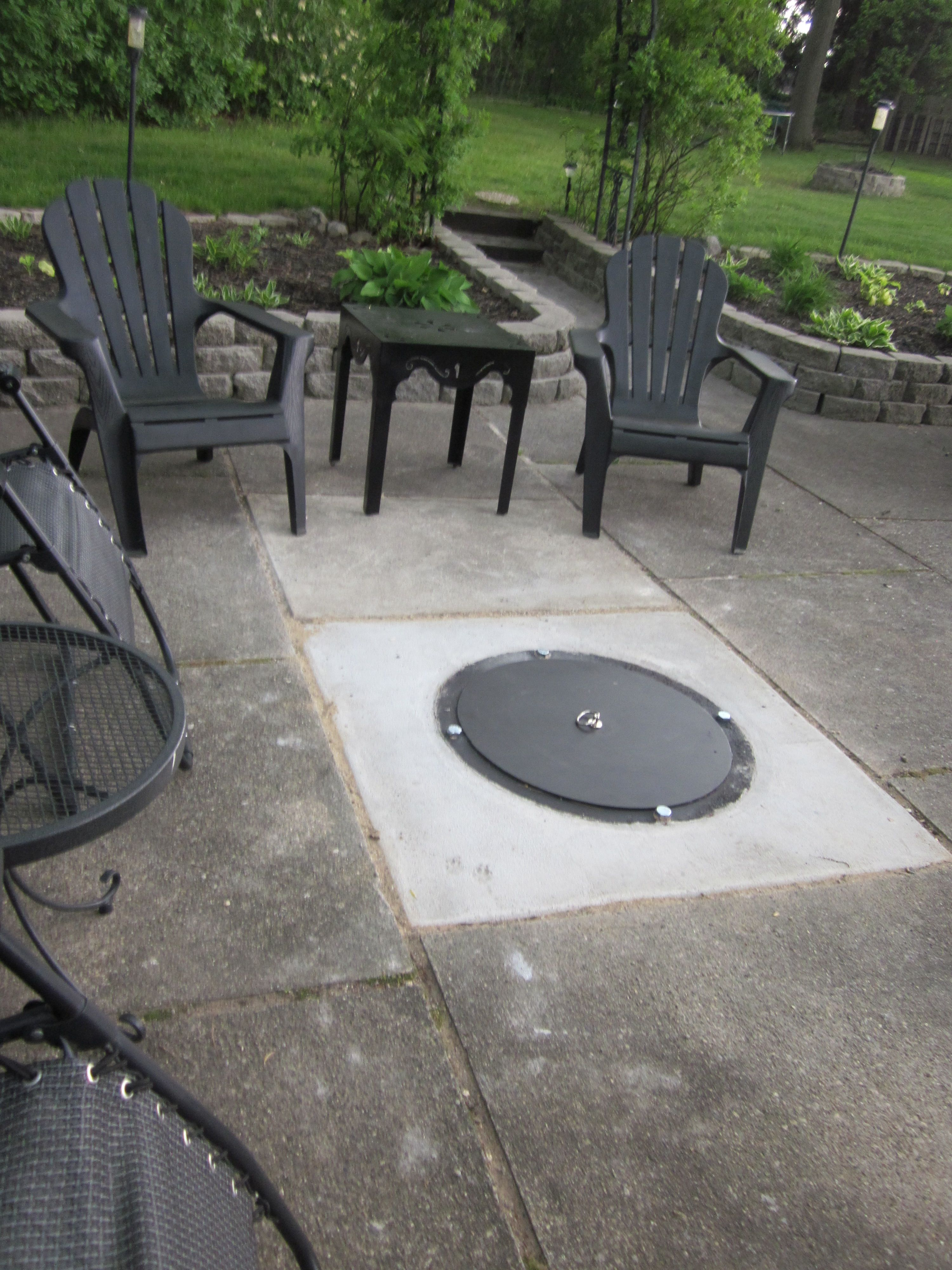 Idea For Fire Pit In The Driveway Parking Area Fire Pit Patio Sunken Fire Pits Cool Fire Pits
