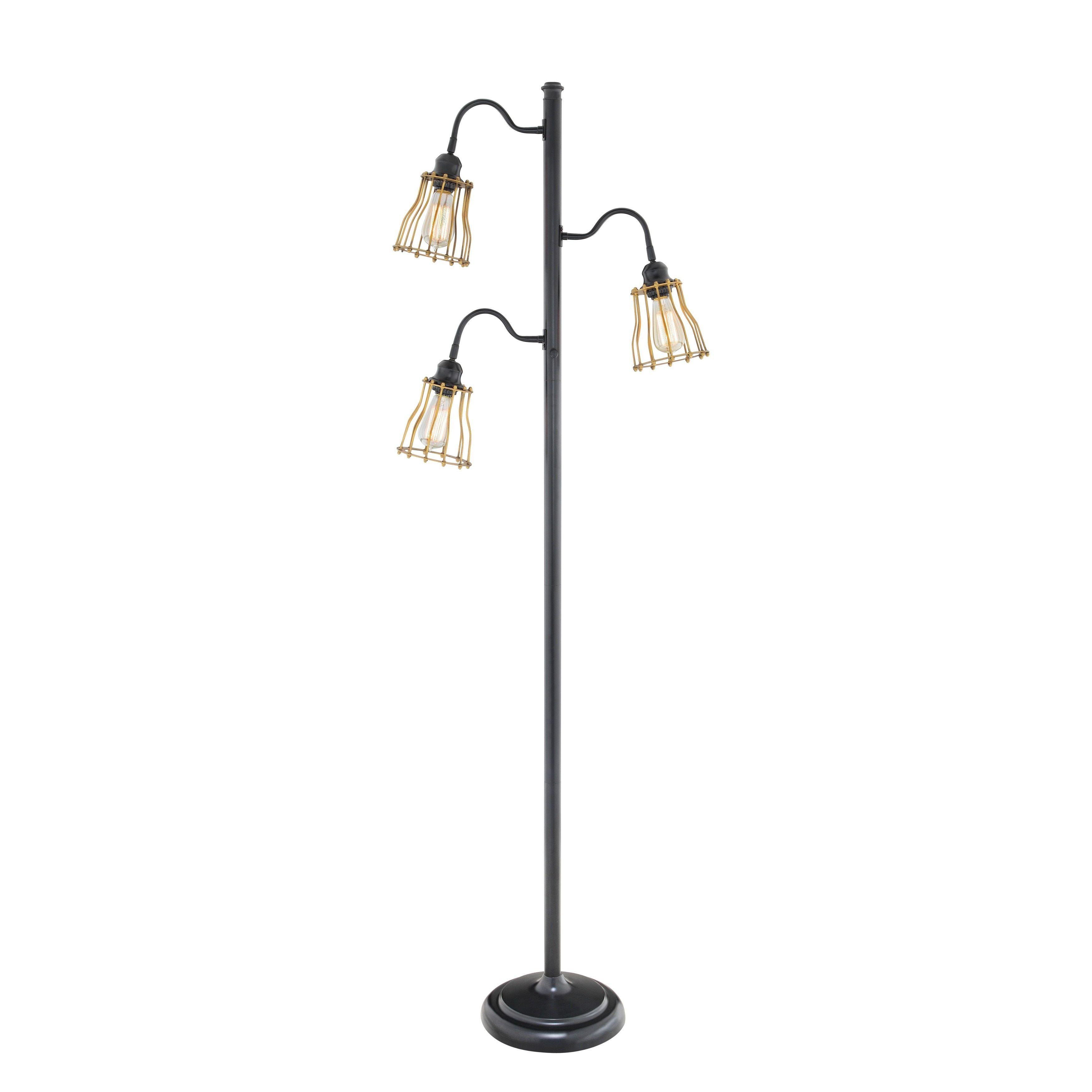 3 Light Floor Lamp Unique Evolution Catalina 3Light Black Metal Track Tree Floor Lamp Black Decorating Inspiration