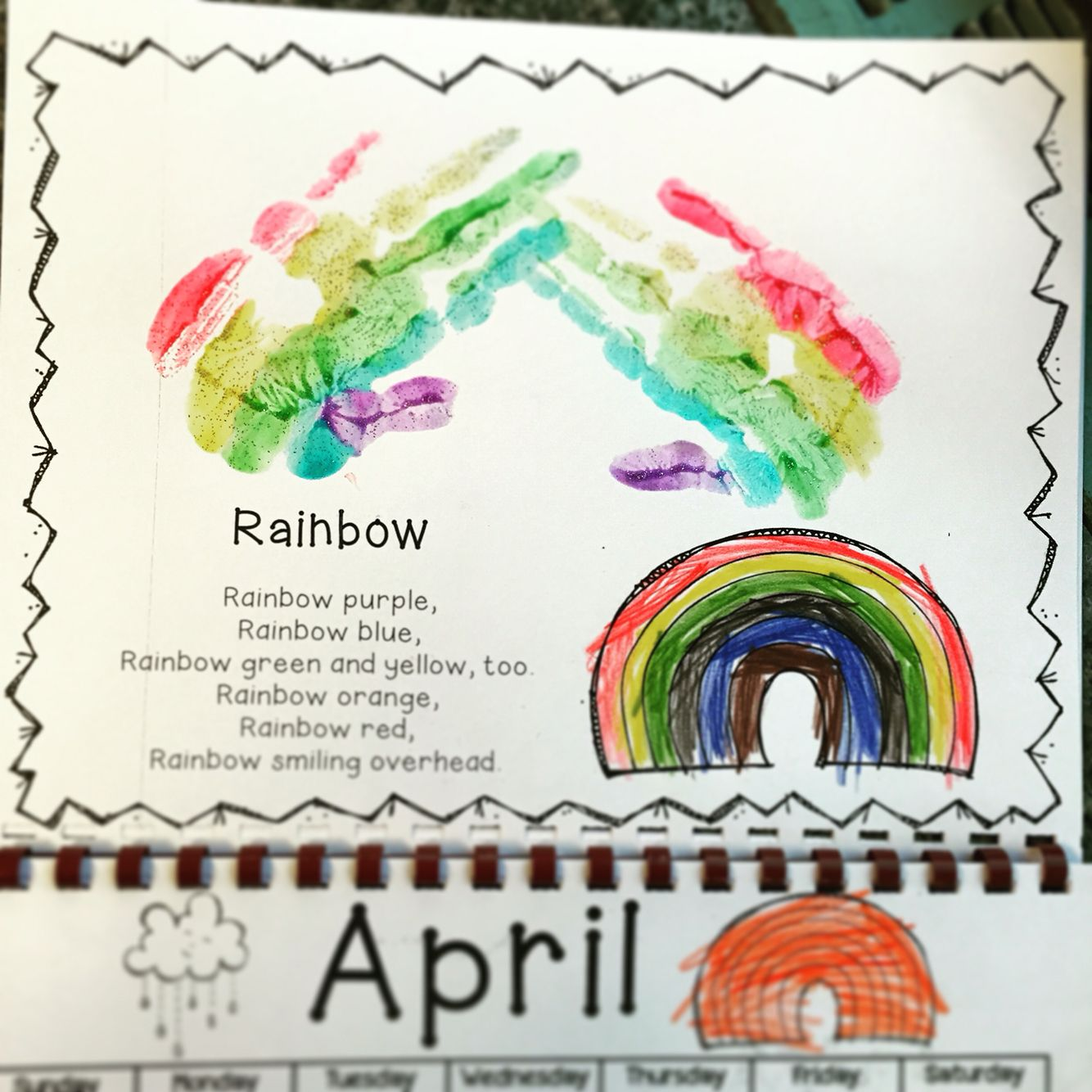 Christmas Calendar Ideas Preschool : Handprint calendar art daycare themes