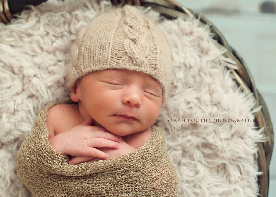 0458572fb6913 Winter hat Baby Hat - Knit Newborn Baby Hat - Cable Knit Baby Hat - Baby Photography  Prop.  27.00