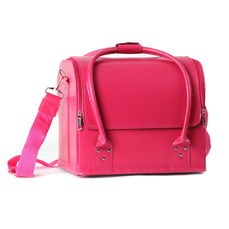 58.91$  Watch here - http://ali2l3.shopchina.info/go.php?t=32805362671 - Women Professional Makeup Organizer Large Capacity Shoulder Cosmetic Bag Multilayer Clapboard Toolbox Brush Bolso Mujer Suitcase 58.91$ #magazineonlinebeautiful